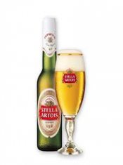 stella beer and bottle