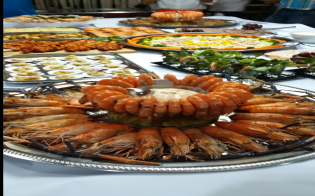 Seafood buffet at Harry's Place