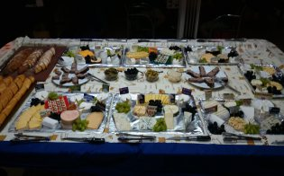 Cheese buffet at Harry's Pla e
