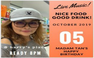 HBD party Madam Tan at Harry's Place